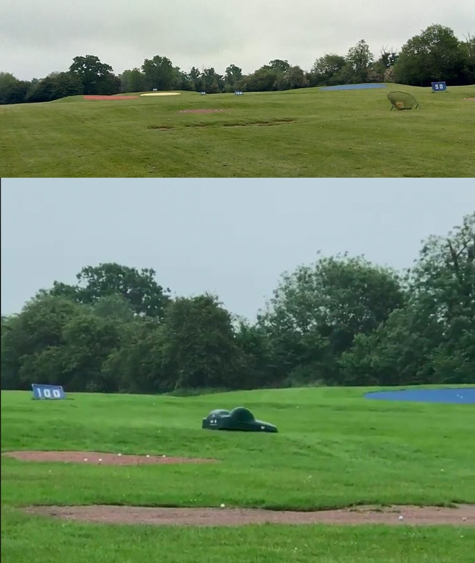 Stevenage Golf Centre outfield with BigMow Classic Robotic Mower