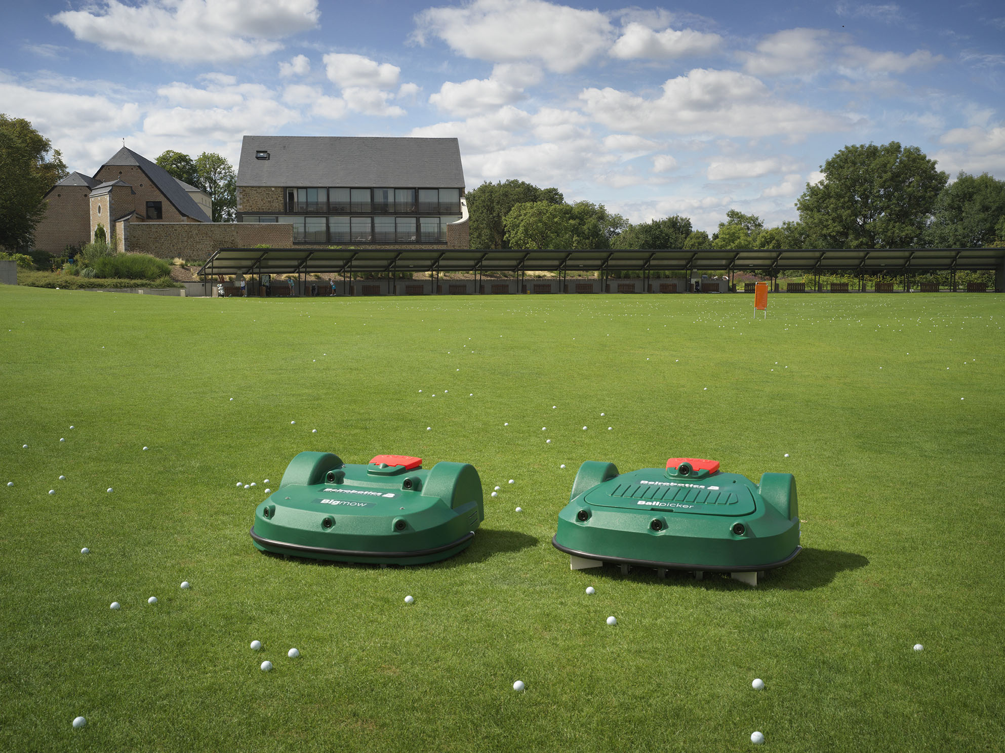 BigMow robotic mower and BallPicker the ball collector robot