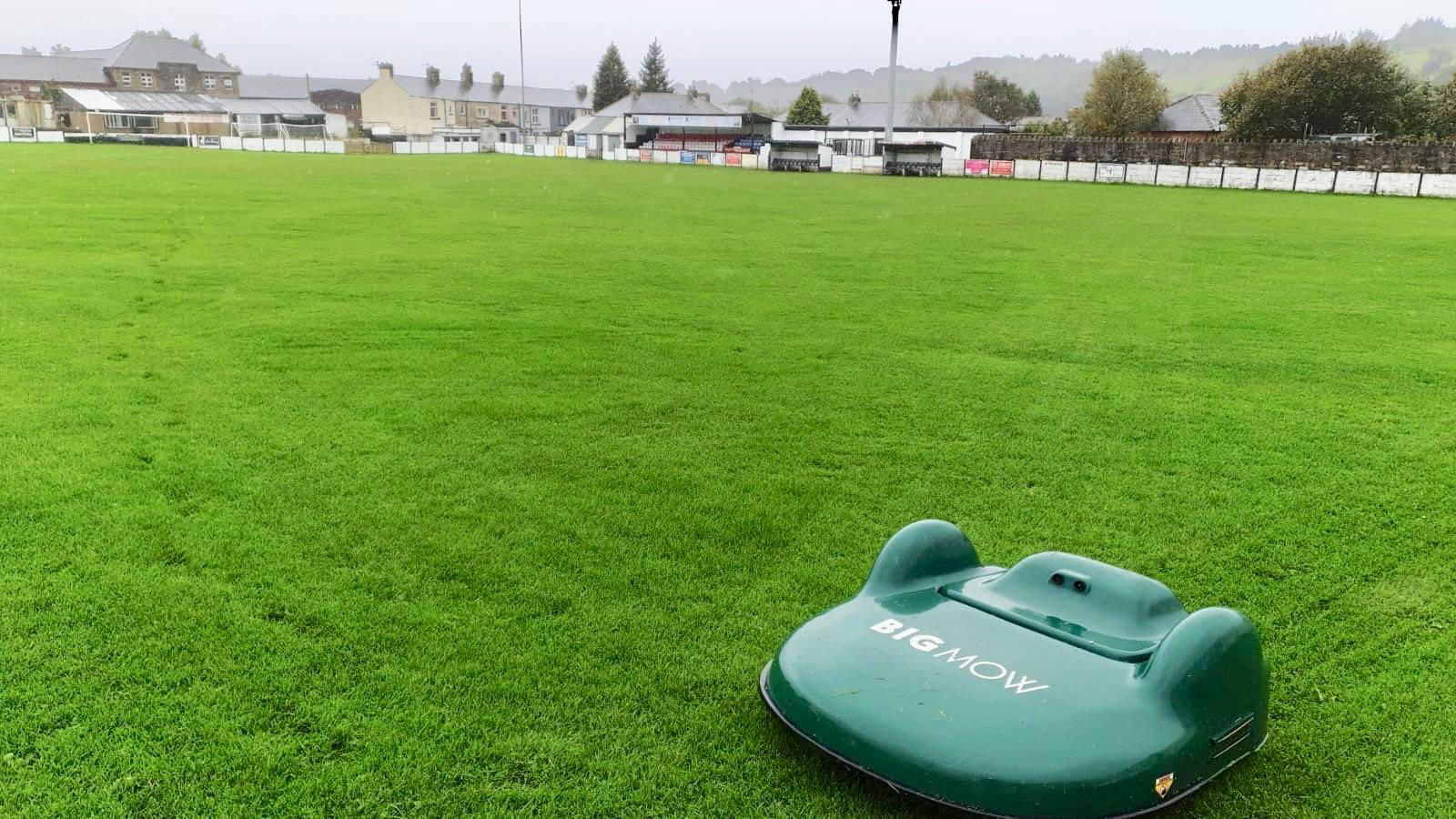 Bacup Borough FC with BigMow Classic Robotic Mower