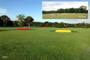 FourAshes Driving Range Outfield Before & After