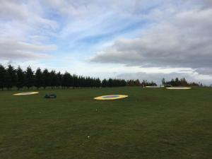 South Cerney Driving Range Outfield with Robots